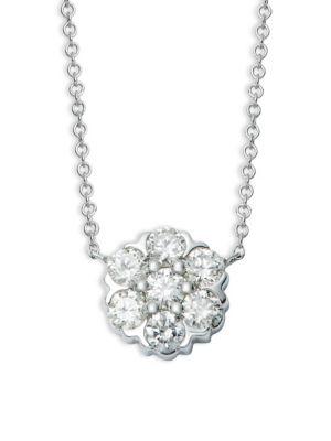 Saks Fifth Avenue Necklaces 14K White Gold & Diamond Pendant Necklace
