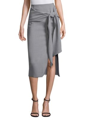 Jason Wu Wool Canvas Wrap Skirt