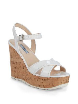 Prada Sandals Cork Wedge Sandals