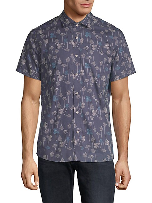SLATE & STONE Classic Printed Shirt in Wallpaper