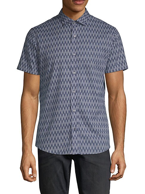 SLATE & STONE Classic Printed Shirt in Arrow Print