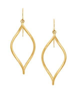Saks Fifth Avenue 14K Yellow Gold Oval Open Twist Dangle Earrings