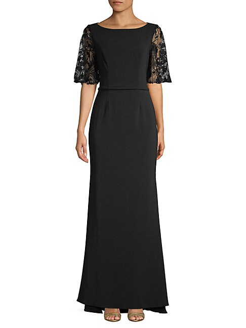 CARMEN MARC VALVO INFUSION   Embellished Lace Gown   Goxip