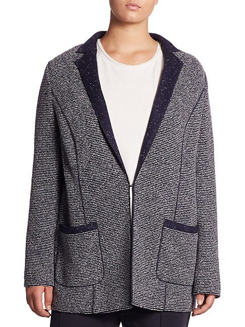 BASLER | Plus Wool-Blend Jacket | Goxip