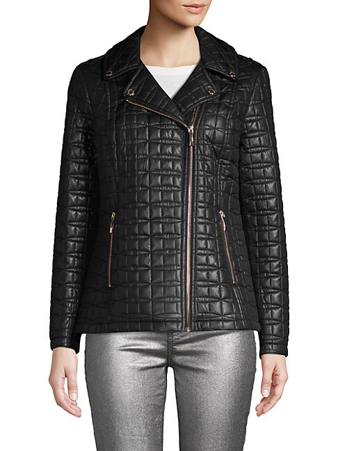 KATE SPADE NEW YORK | Quilted Notch Lapel Puffer Jacket | Goxip