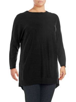 Love Scarlett Plus Back Zip Sweater