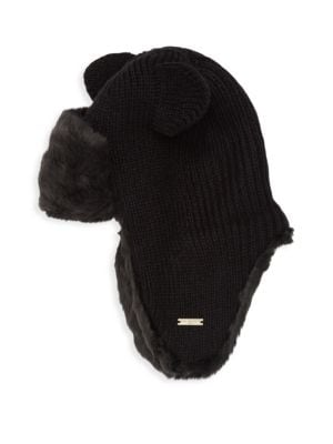ae098d6368b Karl Lagerfeld Kitty Ear Faux Fur Trapper Hat In Black