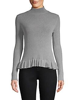 John + Jenn - Levy Ruffle Mockneck Sweater