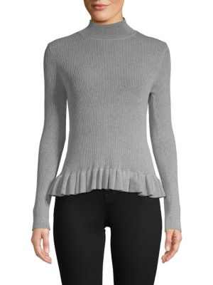 John & Jenn Levy Ruffle Mockneck Sweater