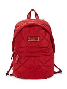 마크 제이콥스 Marc Jacobs Quilted Nylon Backpack,CHERRY_RED
