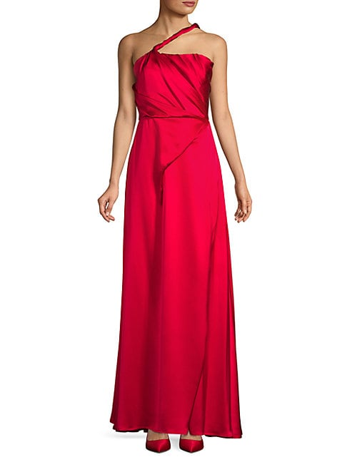 Sleeveless Silk Evening Gown