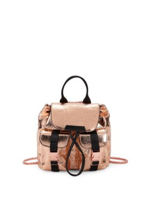 Kendall + Kylie Logo Metallic Backpack