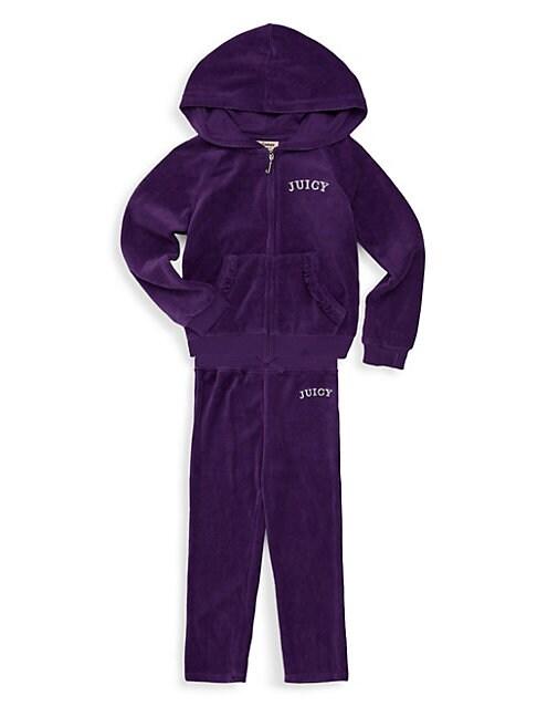 Little Girl's Two-Piece Velour Sweatsuit