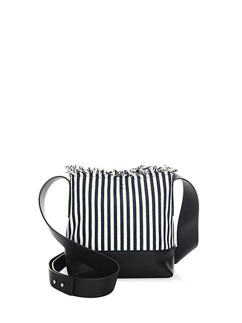 Textile Crossbody Bucket Bag