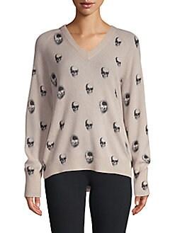 d06d583e2f9a 360 Cashmere Skull-Print Cashmere Sweater