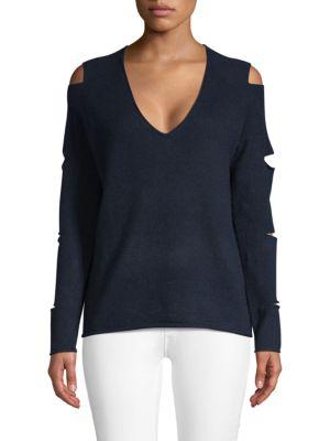 360cashmere Tyrone Slash Sleeve Cashmere Sweater