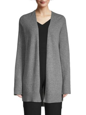 SKULL CASHMERE Printed Open-Front Cashmere Cardigan in Grey