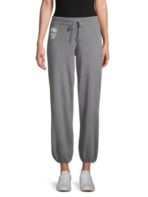 SKULL CASHMERE Heathered Cashmere Sweatpants in Grey