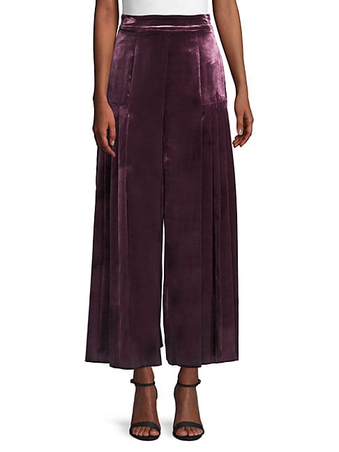 Temperley London BREEZE PLEATED WIDE-LEG TROUSERS