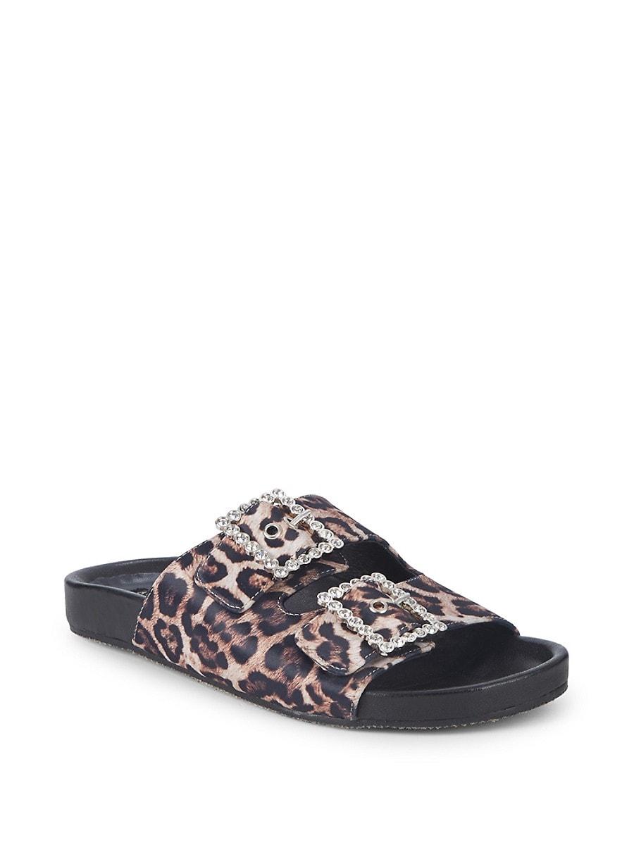 Women's Embellished Stretch Satin Sandals