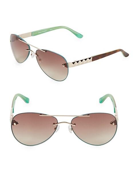 Rockstud 63MM Aviator Sunglasses