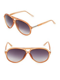 c23c1a6579 QUICK VIEW. Linda Farrow Luxe. Matthew Williamson x Linda Farrow 63MM Aviator  Sunglasses