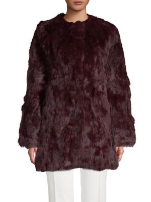 Adrienne Landau Rabbit Fur Coat