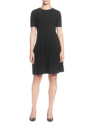 Short Sleeve Sweater Dress, June Bug in Black