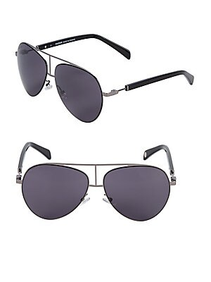 3ee1a8d389 Montblanc - 59MM Browline Aviator Sunglasses - saksoff5th.com