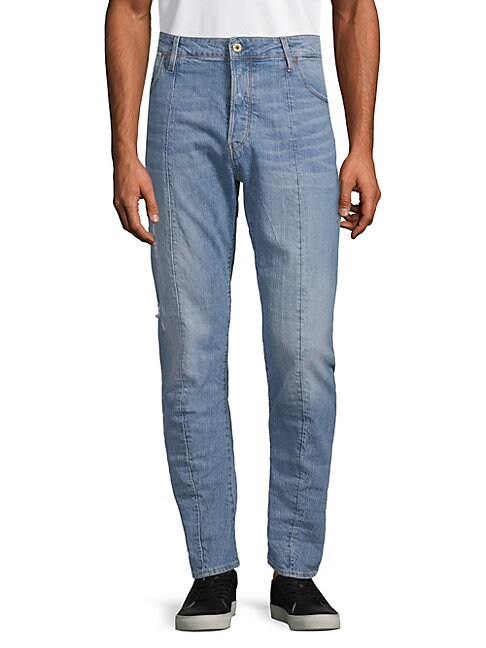 Straight Tapered-Leg Jeans