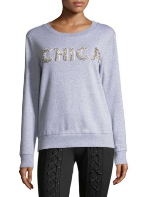 Scripted Chica Cotton-Blend Sweatshirt