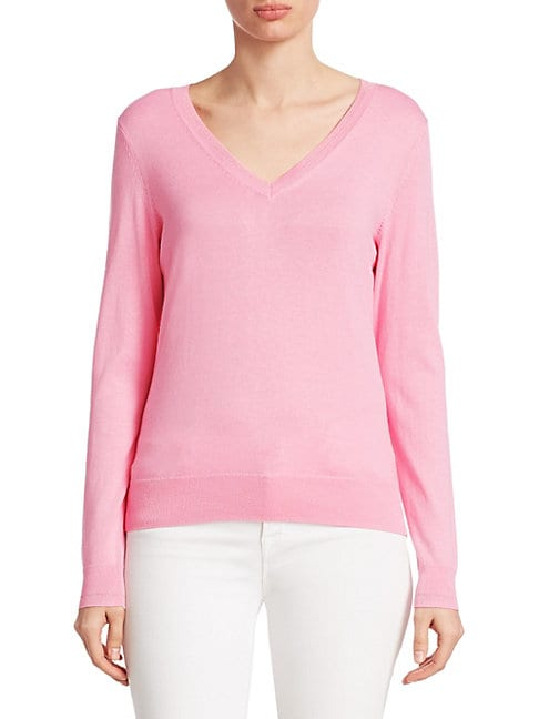 SAKS FIFTH AVENUE | COLLECTION Classic V-Neck Pullover | Goxip