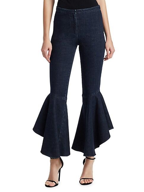 CROSLEY   Flared Ruffle Jeans   Goxip