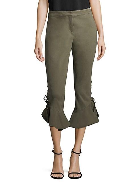 CROSLEY   Lace-Up Ruffle Pants   Goxip