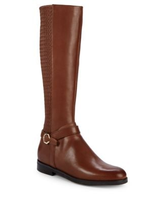 Leela Grand Riding Boot, Harvest Brown Leather