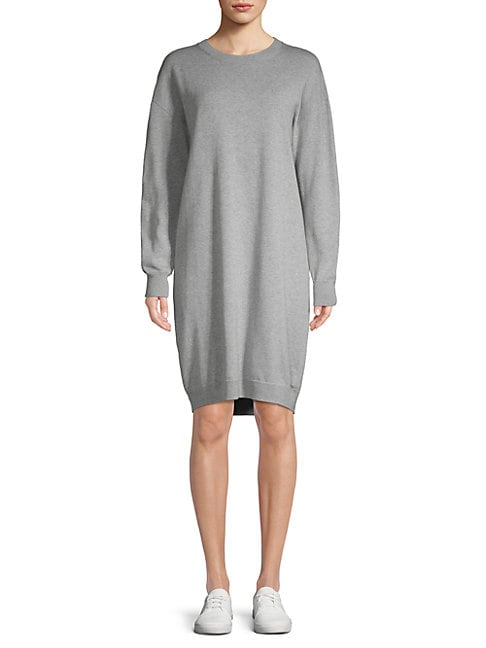 Cotton Crew Sweater Dress