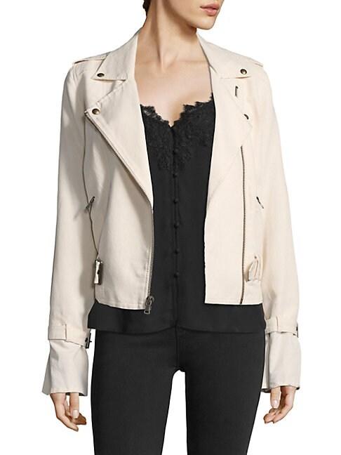 PAIGE | Rhoda Twill Moto Jacket | Goxip