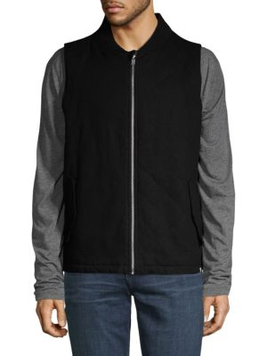 SOVEREIGN CODE Franz Quilted Cotton Jacket in Black