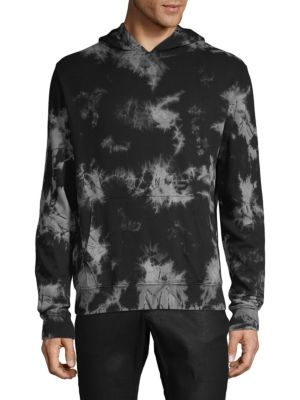 SOVEREIGN CODE Printed Hooded Cotton Jacket in Black