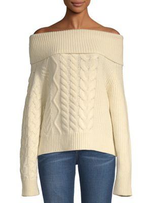 John Varvatos Thea Off-The-Shoulder Wool & Cashmere Sweater