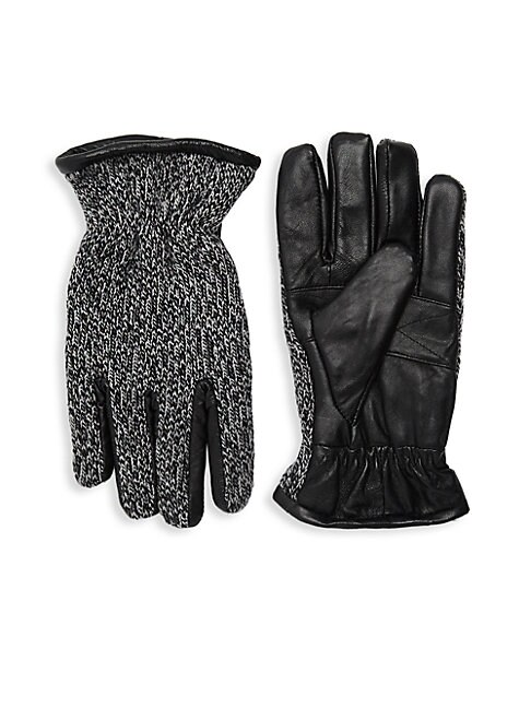 Knit Leather Gloves