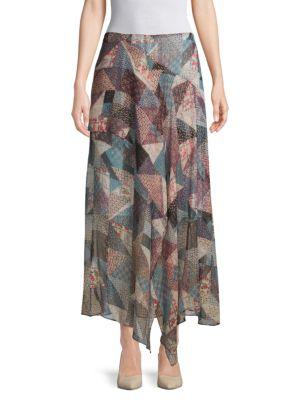 Bcbgmaxazria Skirts Patchwork Hankerchief Skirt