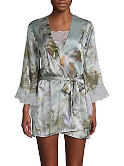 Samantha Chang - Yukata Silk Floral Robe<br><br>