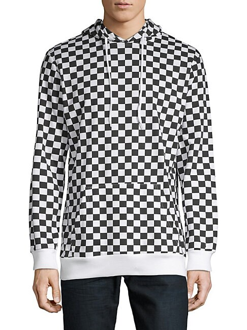 DNM COLLECTION   Checkered-Print Hoodie   Goxip