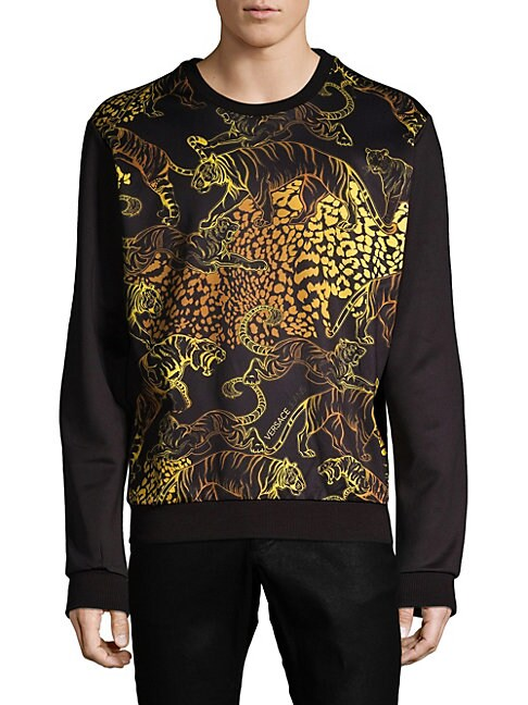 Long-Sleeve Graphic Sweater