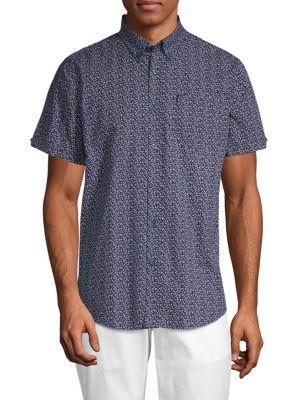 Ben Sherman  Floral Cotton Sport Shirt