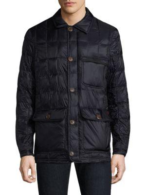 RAINFOREST Heat Puffer Walking Coat in Midnight