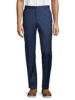 cfd9b5075bc1 QUICK VIEW. Hickey Freeman. Printed Wool Pants