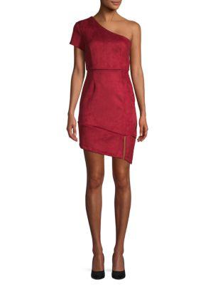 Nsr Johanna Scuba One-Shoulder Sheath Dress