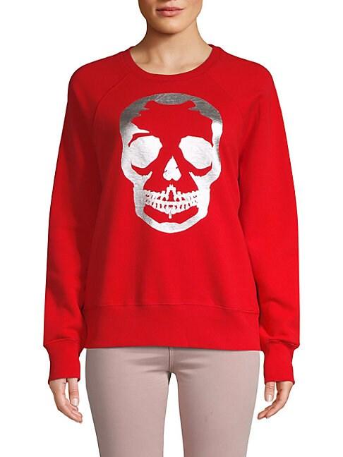 Skull Graphic Cotton Sweatshirt